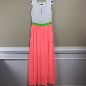 Matilda color block maxi dress